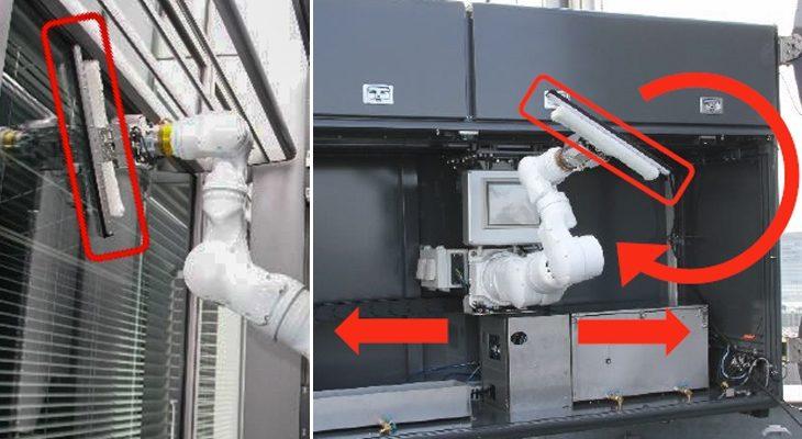 【ビルメンロボット】三菱地所が高層ビルで窓拭きロボットアームの実証実験