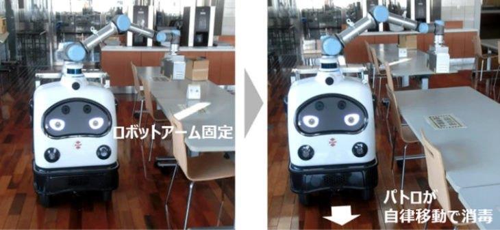 【ビルメンロボット】警備しながら消毒もするロボット:JUKIのパトロ