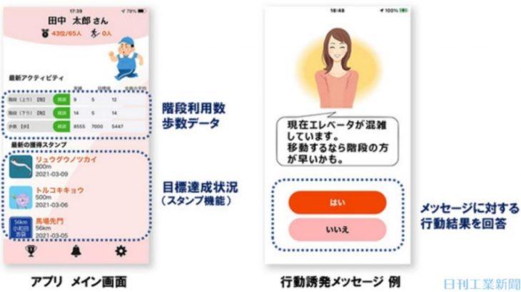 【スマートビルディング】オフィスワーカーの健康にまで配慮するスマートビルディング用スマホアプリ