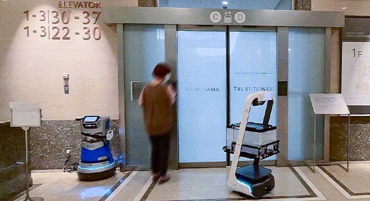 【ビルメンロボット】画期的! 複数メーカーの自動搬送ロボットをクラウドで統合制御(動画あり)
