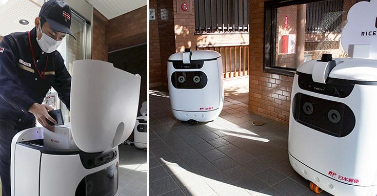 【ビルメンロボット・AI】日本郵便の屋内配送ロボット「RICE」 玄関先まで自動配達! (動画あり)